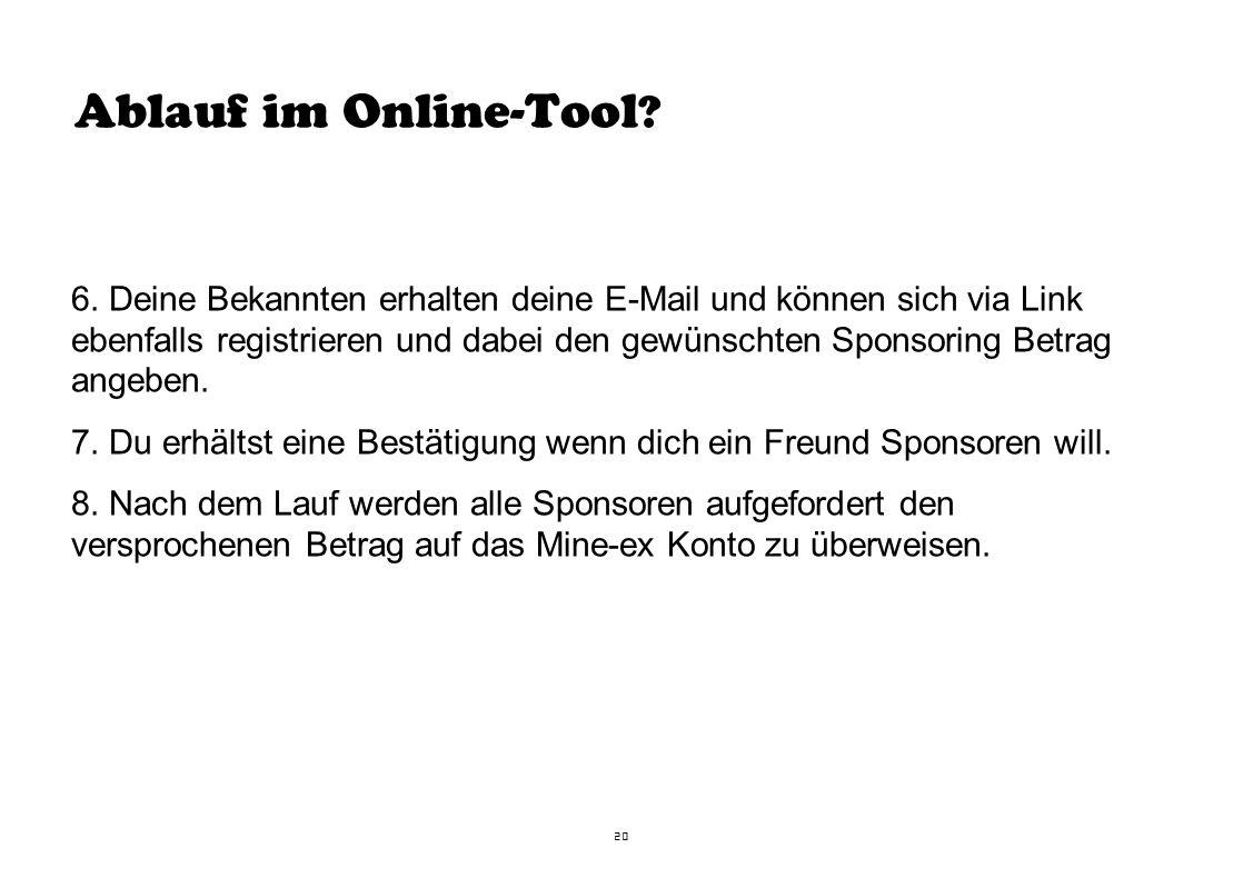 Ablauf im Online-Tool . 6.