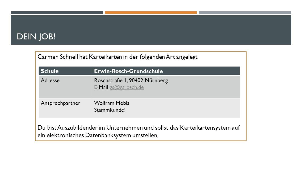 DATENBANKSYSTEME I #5 DATENBANK ALS SCHNITTSTELLE (SERIENBRIEF)