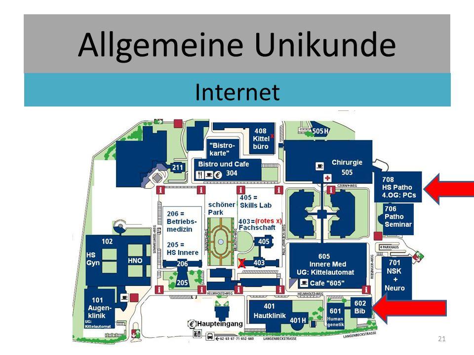 Allgemeine Unikunde Internet 21
