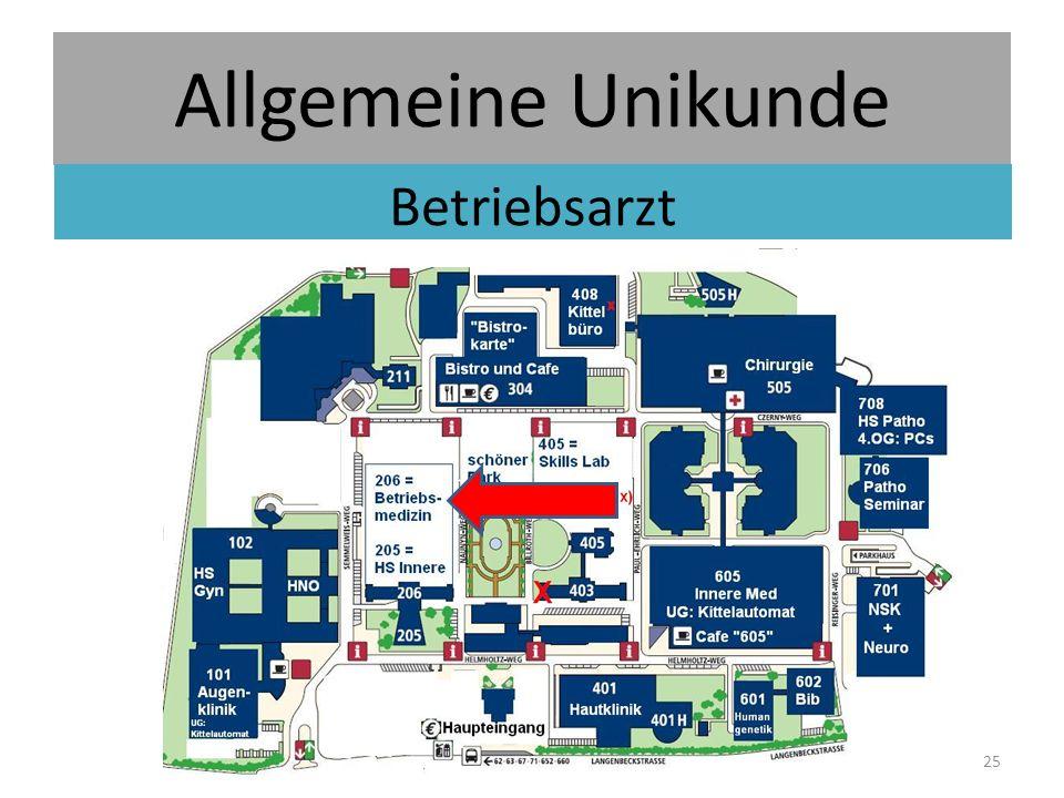 Allgemeine Unikunde Betriebsarzt 25