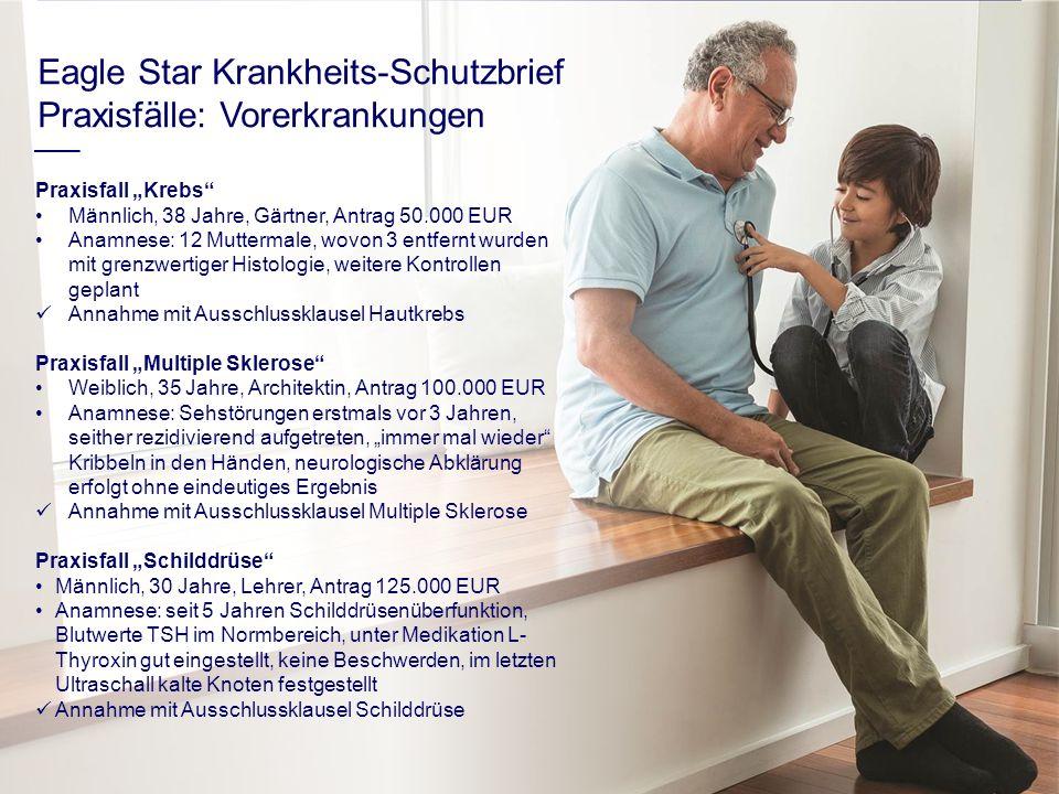 """Praxisfall """"Krebs"""" Männlich, 38 Jahre, Gärtner, Antrag 50.000 EUR Anamnese: 12 Muttermale, wovon 3 entfernt wurden mit grenzwertiger Histologie, weite"""