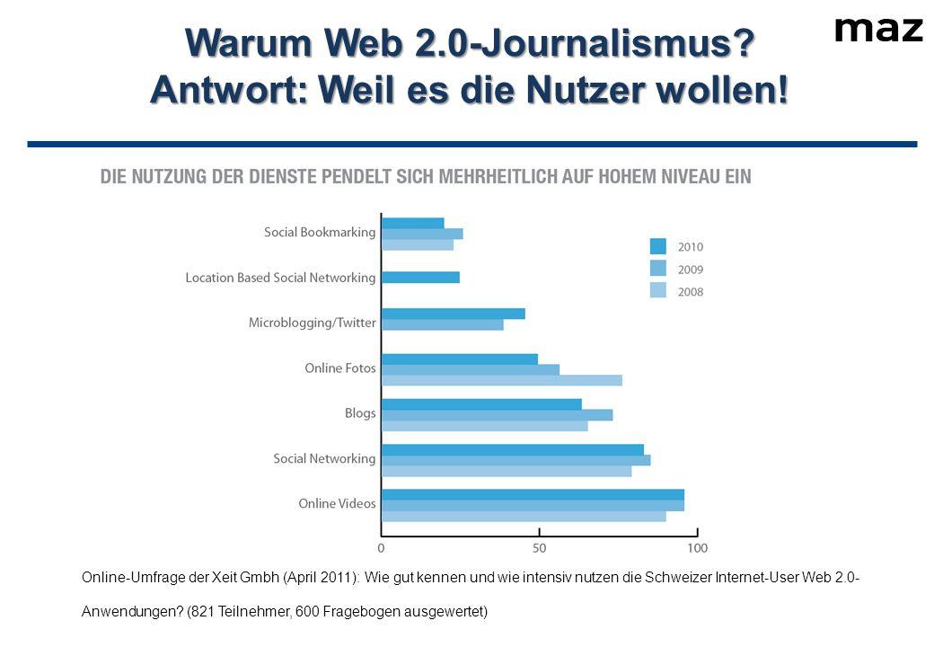 Warum Web 2.0-Journalismus. Antwort: Weil es die Nutzer wollen.