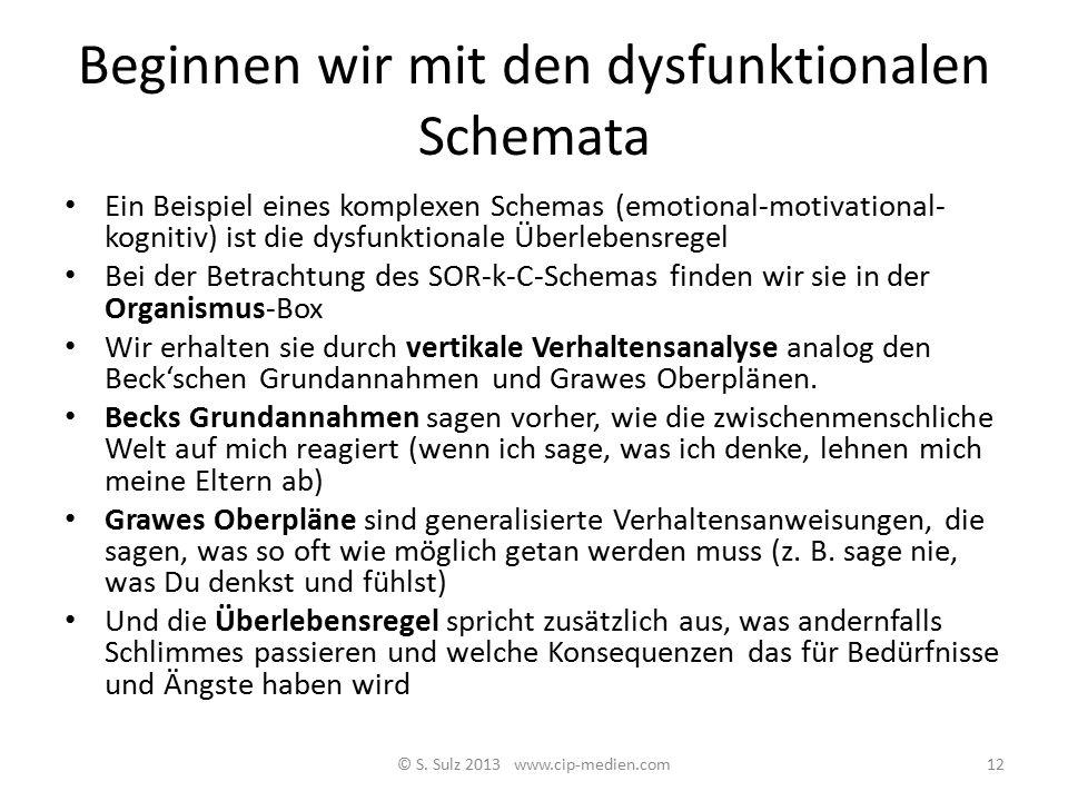 Systemanalyse: Schemata und Regeln Hayes et al. (2003) sprechen von Regel geleitetem Verhalten (rule gouverned behavior) Als weiterer Erklärung zusätz