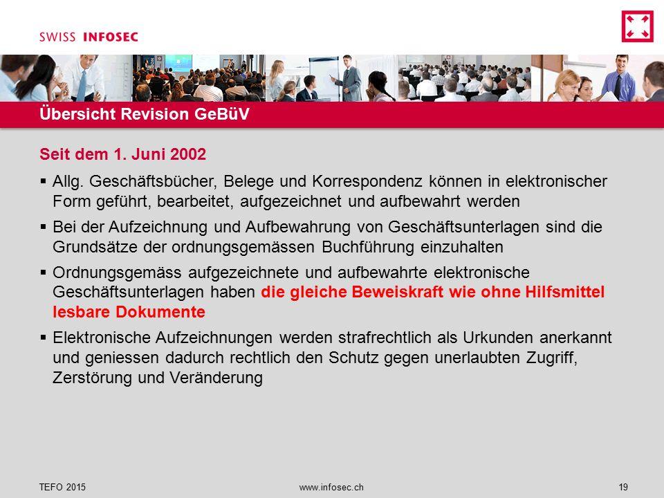 Übersicht Revision GeBüV  Allg. Geschäftsbücher, Belege und Korrespondenz können in elektronischer Form geführt, bearbeitet, aufgezeichnet und aufbew