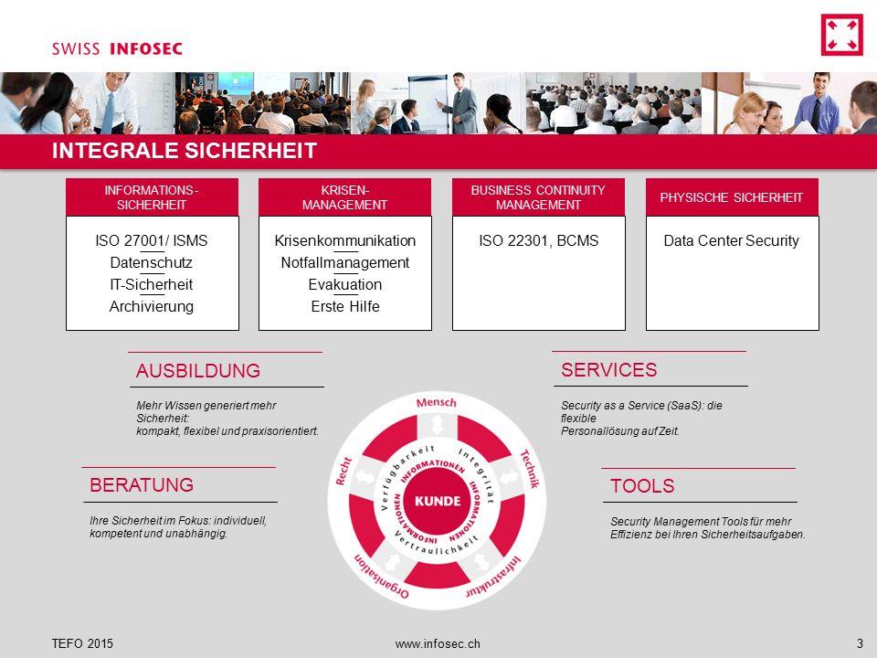 Die Schritte einer forensischen Untersuchung  Strategische Vorbereitung (mit was?)  Operationale Vorbereitung (wie?)  Datensammlung  Datenuntersuchung  Datenanalyse  Dokumentation TEFO 2015www.infosec.ch34