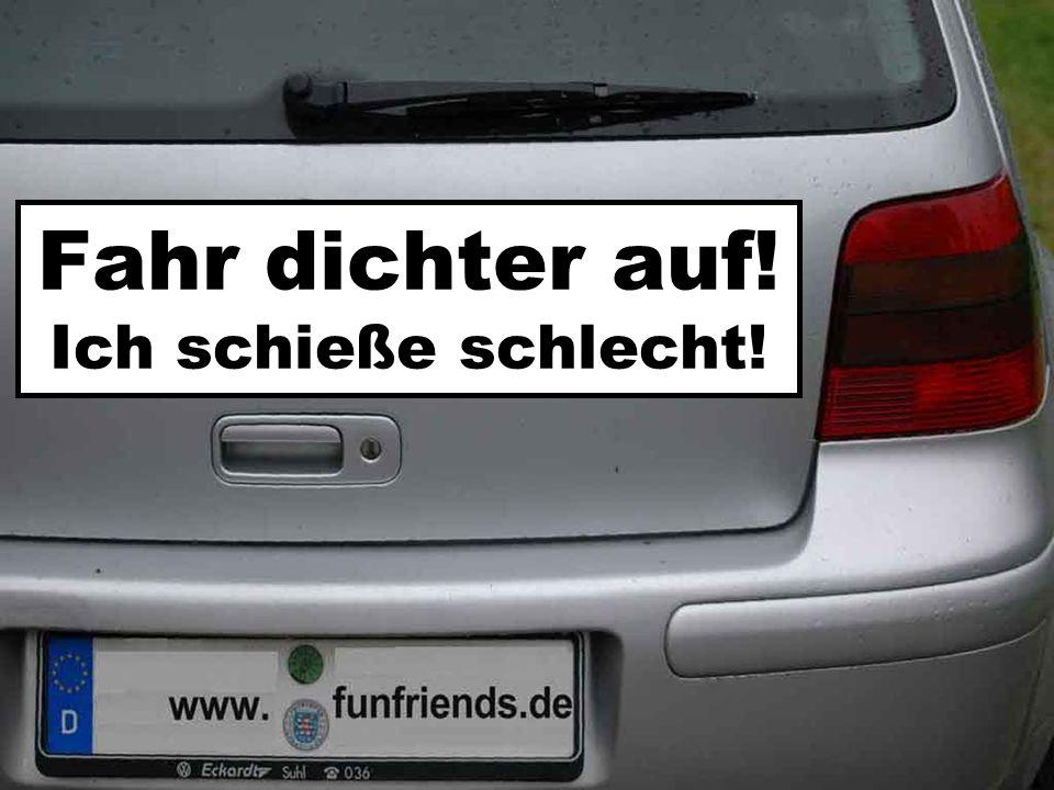 Bitte nicht hupen, Fahrer träumt von *******