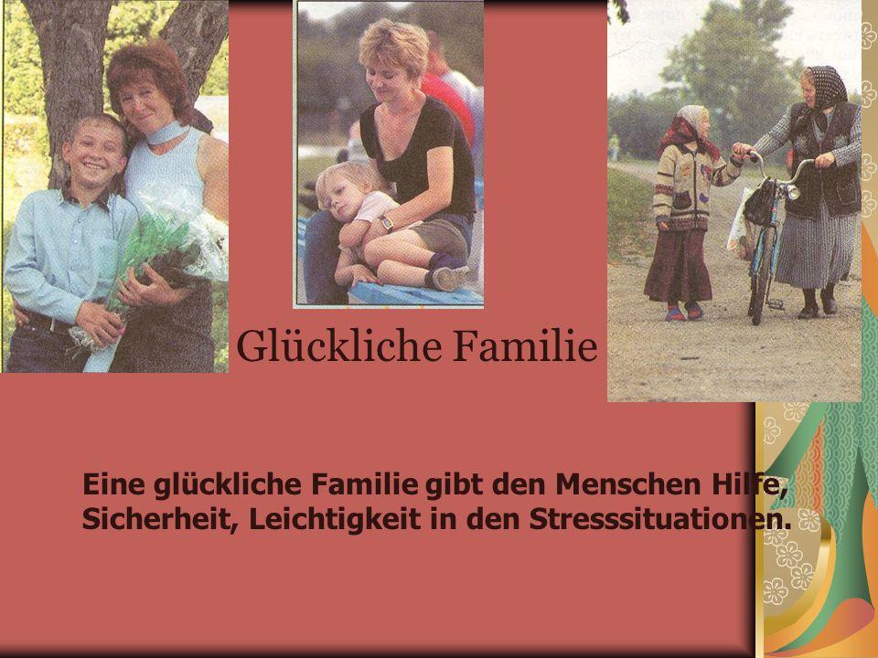 «Wenn die ganze Welt dir enttäutscht, immer gibt es den Ort, wohin man gehen kann» Aber wozu braucht man eine Familie.
