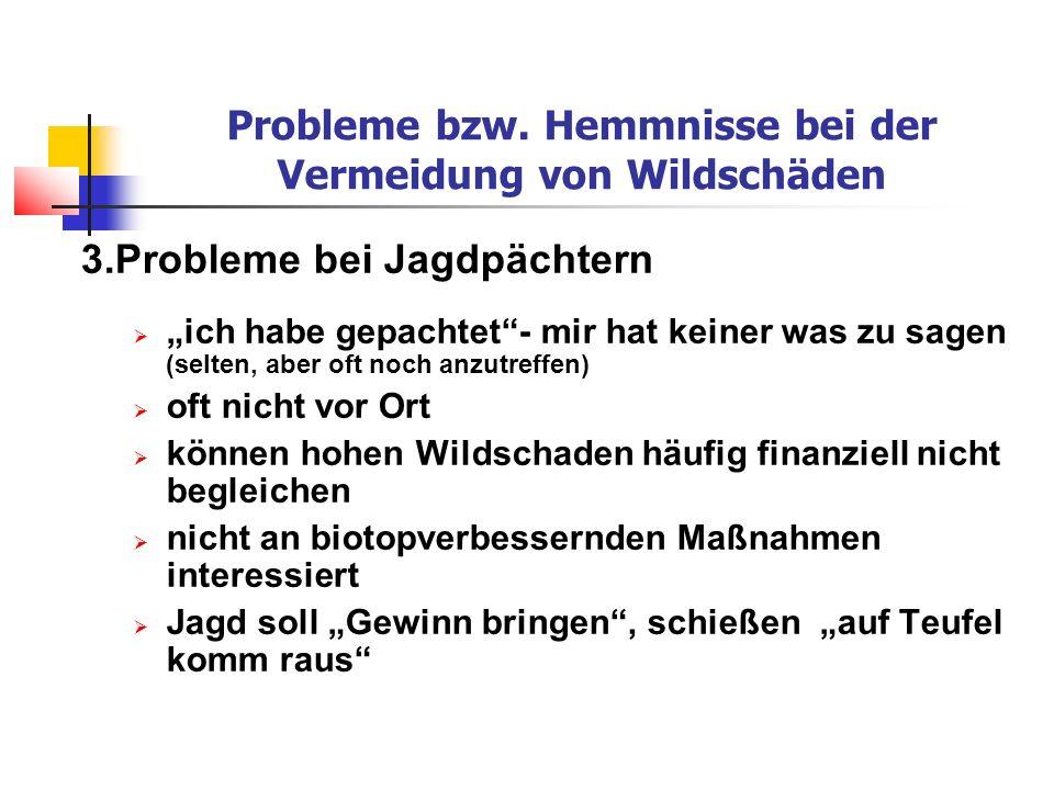 Probleme bzw.