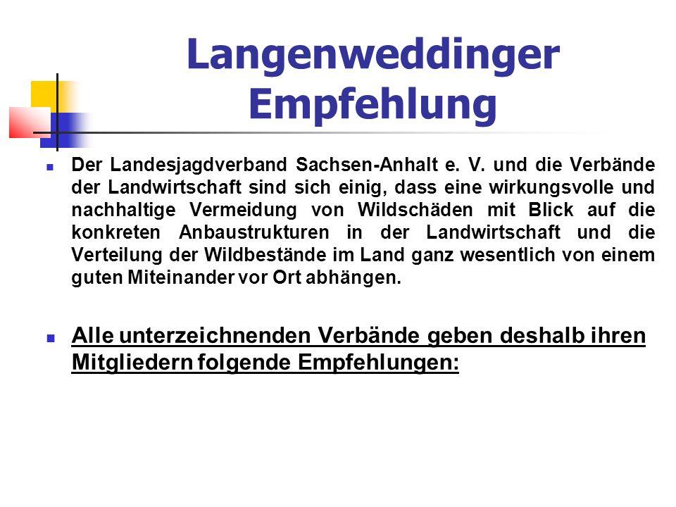 Langenweddinger Empfehlung Der Landesjagdverband Sachsen-Anhalt e.