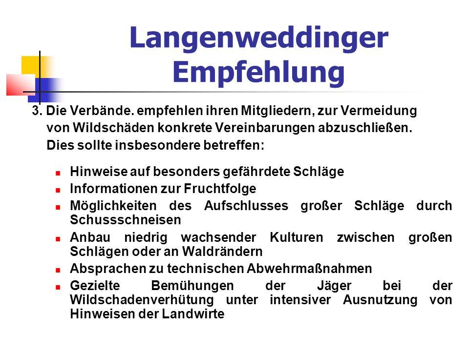 Langenweddinger Empfehlung 3. Die Verbände.