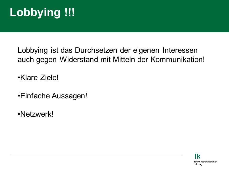 Lobbying !!.