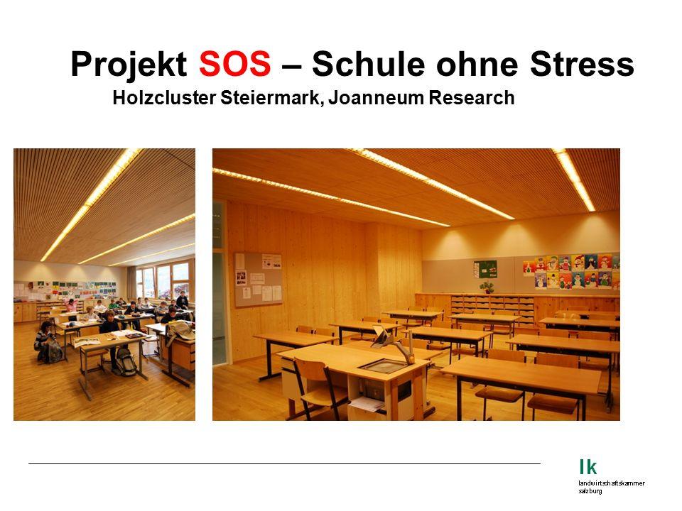Projekt SOS – Schule ohne Stress Holzcluster Steiermark, Joanneum Research