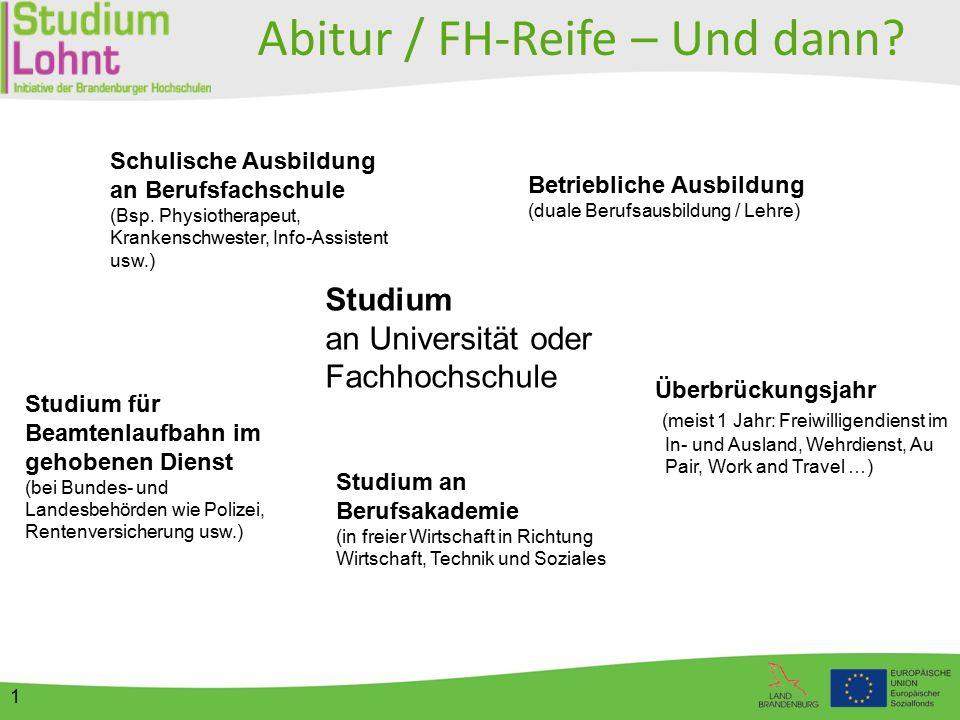 2 Studieren?! Informationen rund ums Studium - am Beispiel von Brandenburg -