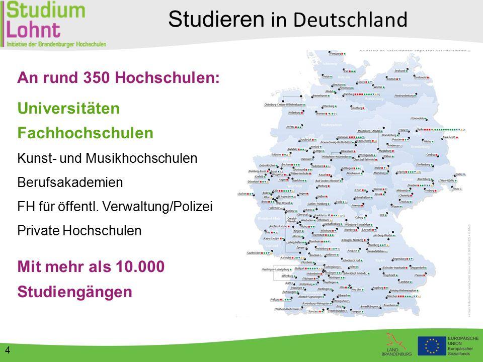 Hochschulen in Brandenburg