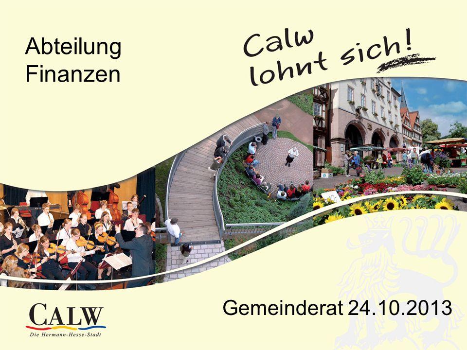 Abteilung Finanzen Gemeinderat 24.10.2013