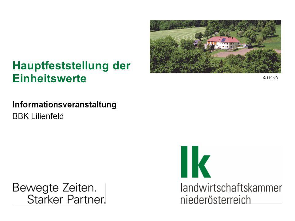 Hauptfeststellung der Einheitswerte Informationsveranstaltung BBK Lilienfeld © LK NÖ