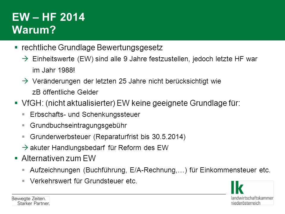 EW – HF 2014: LuF 1-B 2.Derzeit erfasste Grundlagen- u.