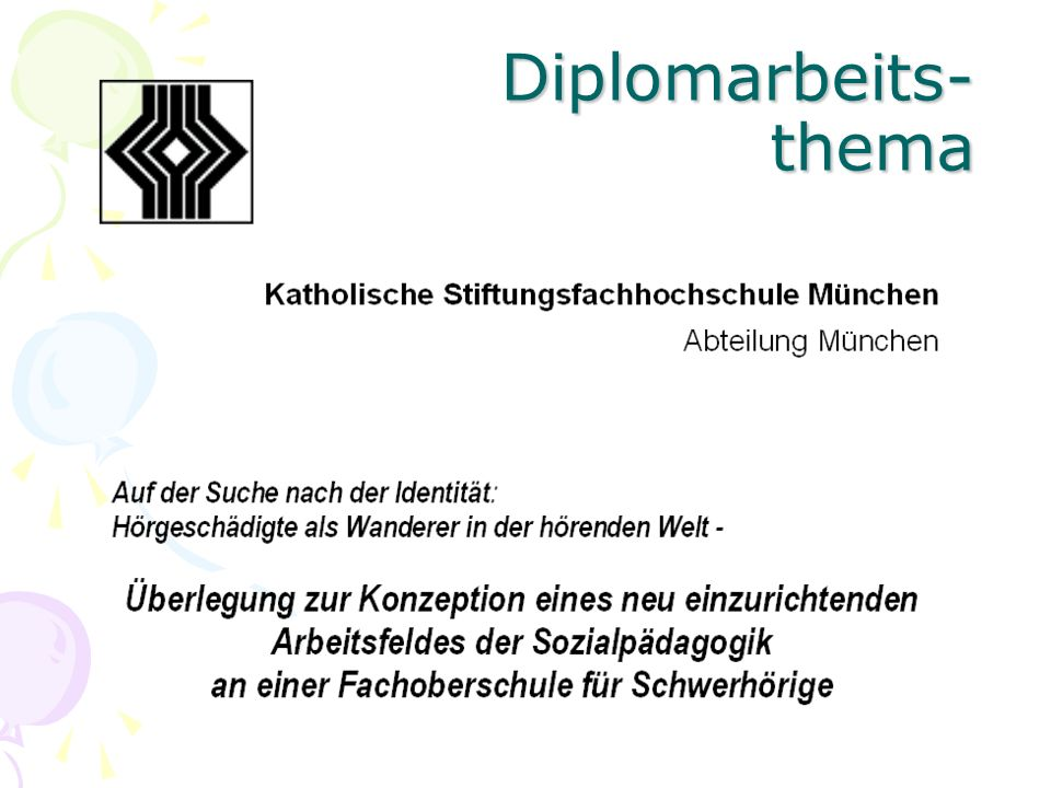 Diplomarbeits- thema