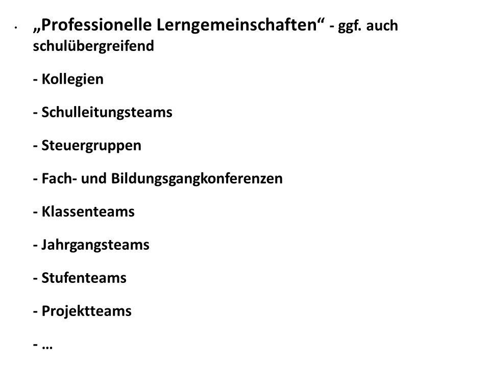 """""""Professionelle Lerngemeinschaften - ggf."""