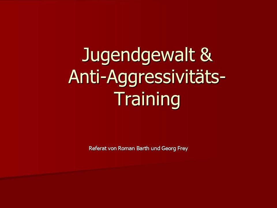 Jugendgewalt & Anti-Aggressivitäts- Training Referat von Roman Barth und Georg Frey