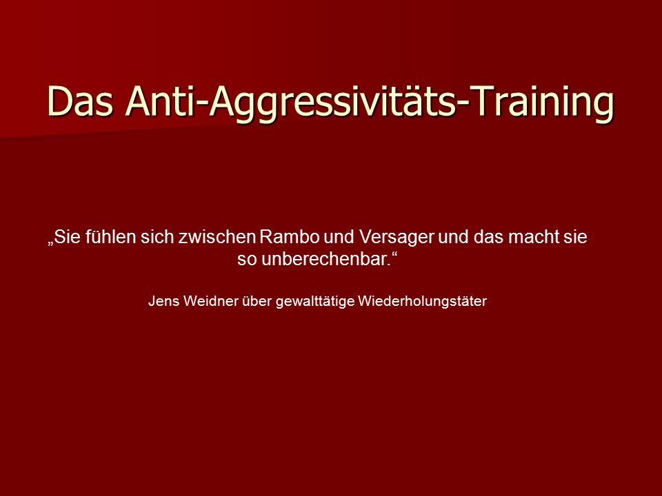 """""""Mit dem Anti-Aggressivitäts-Training werden gute Ergebnisse erzielt, aber es braucht flankierende Massnahmen."""