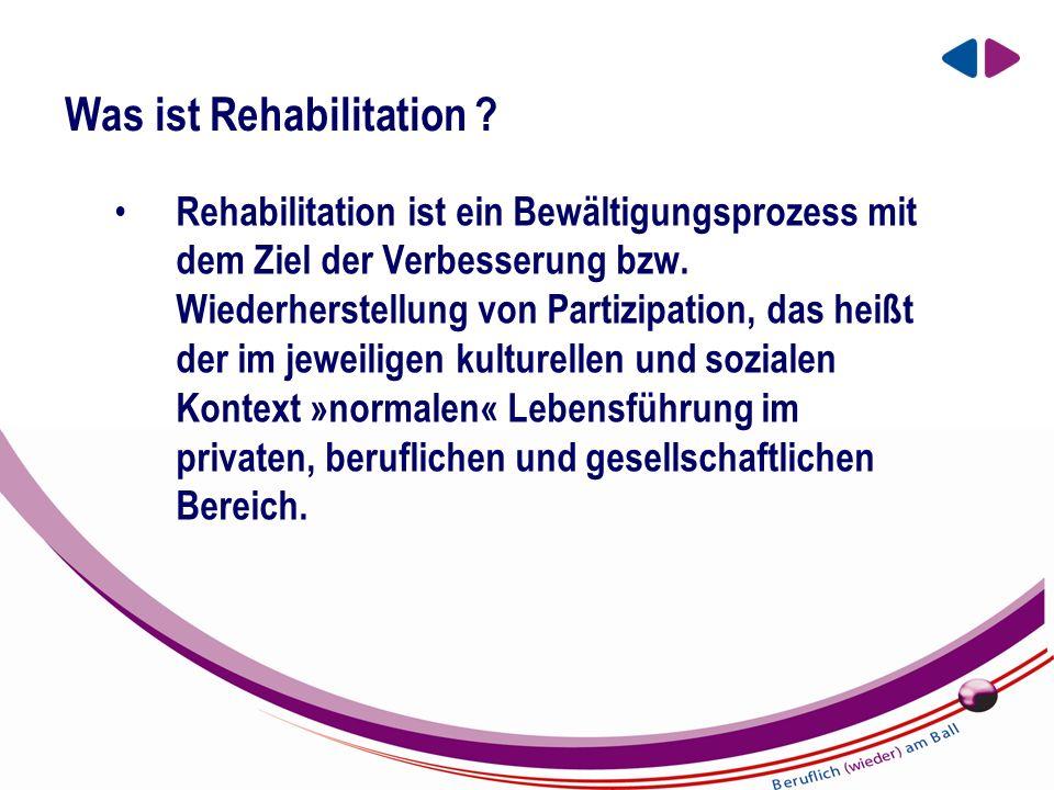 EIN UNTERNEHMEN DER BBRZ GRUPPE Was ist Rehabilitation .