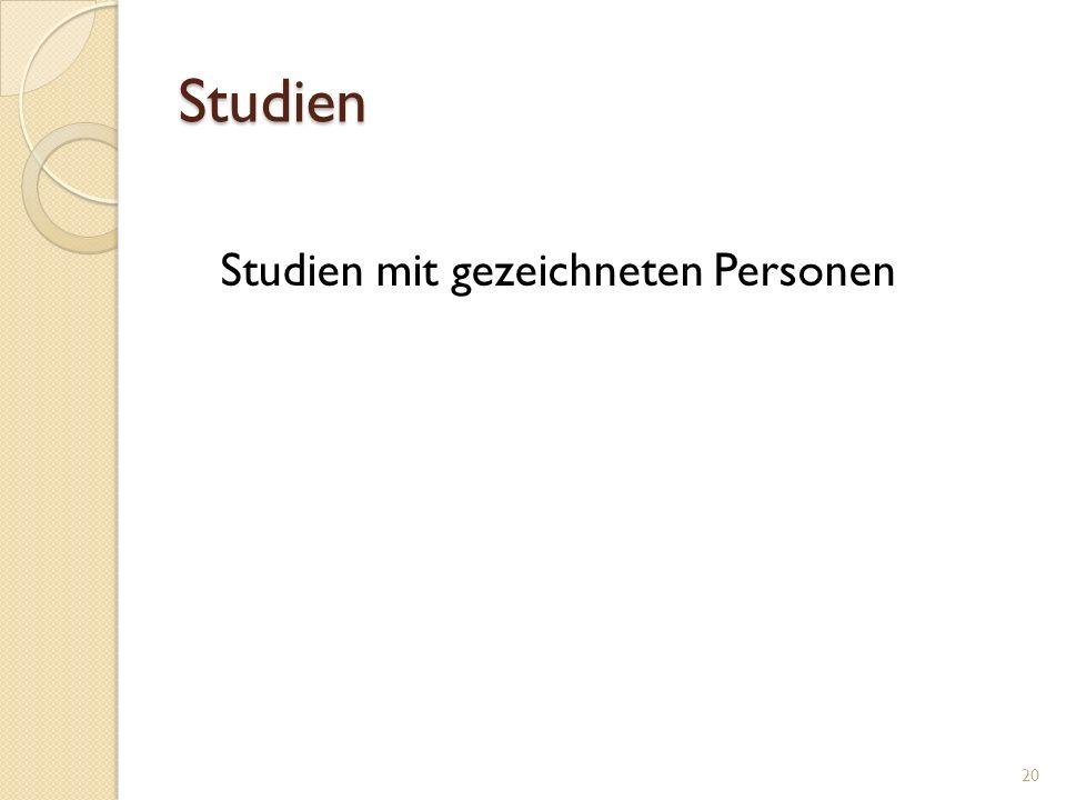 Studien Studien mit gezeichneten Personen 20