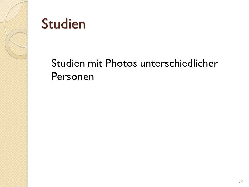 Studien Studien mit Photos unterschiedlicher Personen 27