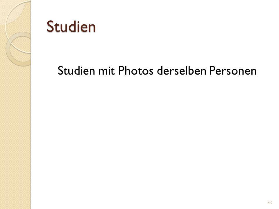 Studien Studien mit Photos derselben Personen 33