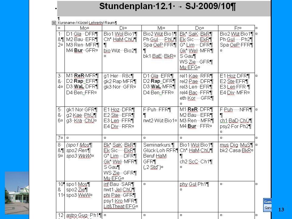 KvFG 26.11.0913 Stundenplan 12
