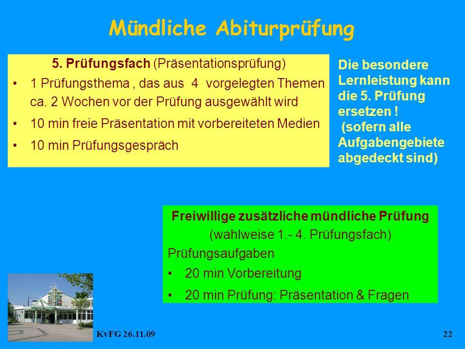 KvFG 26.11.0922 Mündliche Abiturprüfung 5.