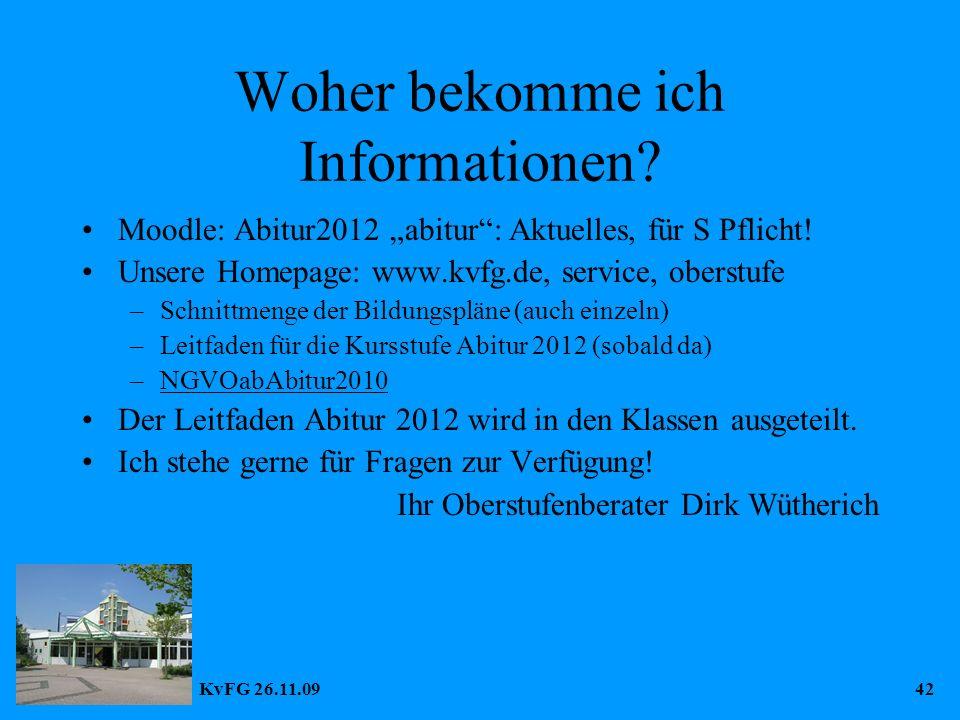 KvFG 26.11.0942 Woher bekomme ich Informationen.