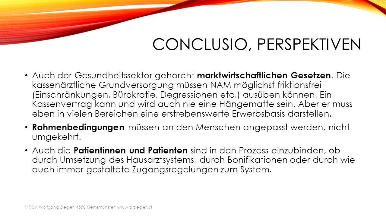CONCLUSIO, PERSPEKTIVEN Auch der Gesundheitssektor gehorcht marktwirtschaftlichen Gesetzen.