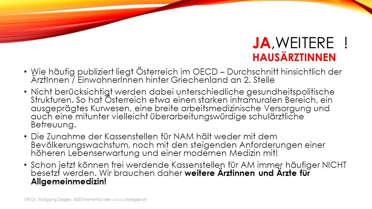ANDERE .Laut WKO kommen 1,6 Allgemeinmediziner auf 1000 Österreicher.