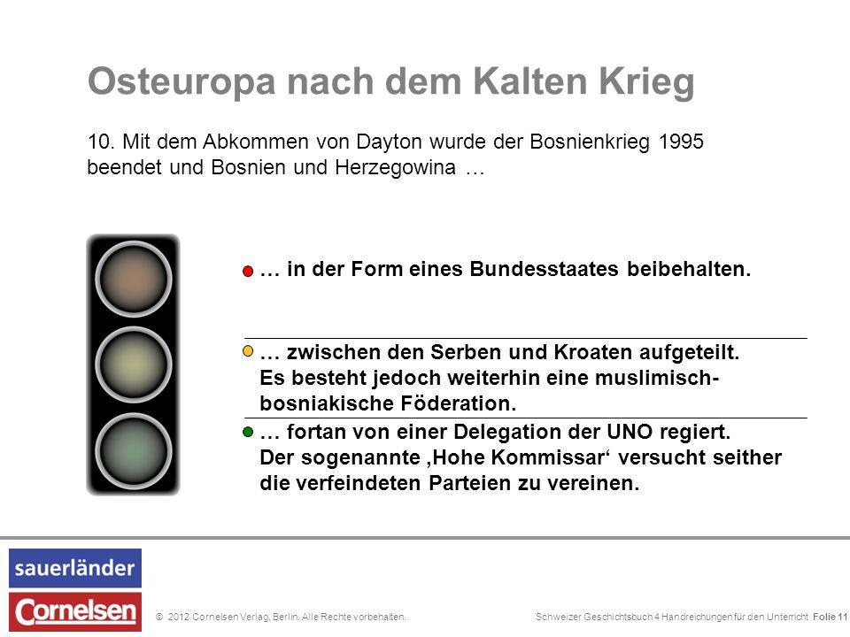Schweizer Geschichtsbuch 4 Handreichungen für den Unterricht Folie 0© 2012 Cornelsen Verlag, Berlin. Alle Rechte vorbehalten. In Bosnien leben nach de