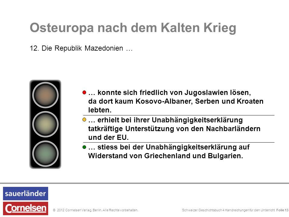 Schweizer Geschichtsbuch 4 Handreichungen für den Unterricht Folie 0© 2012 Cornelsen Verlag, Berlin. Alle Rechte vorbehalten. Mit der Stationierung vo