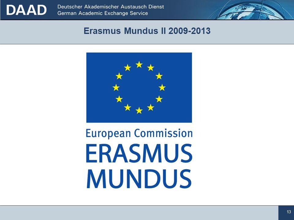 13 Erasmus Mundus II 2009-2013