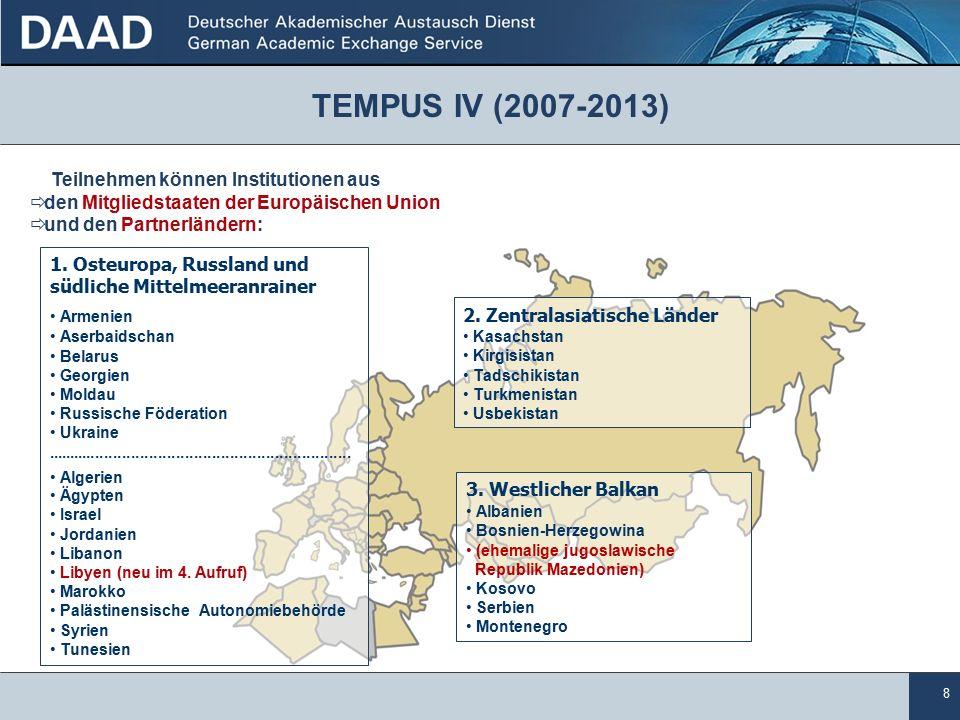 8 Teilnehmen können Institutionen aus  den Mitgliedstaaten der Europäischen Union  und den Partnerländern: 3.