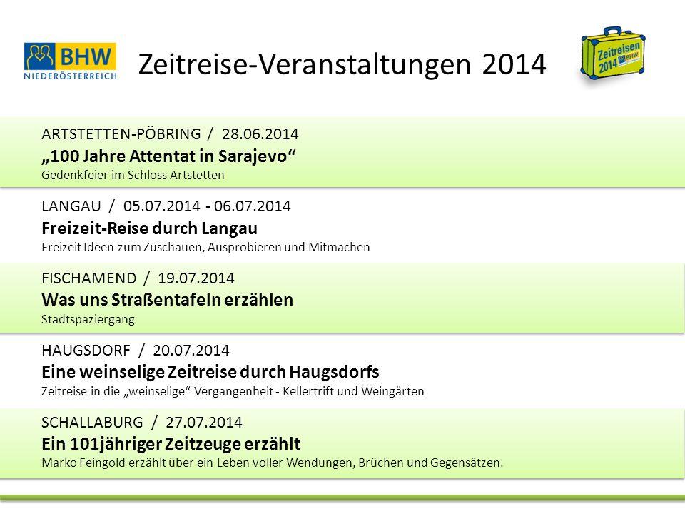 Zeitreise-Veranstaltungen 2014 SCHWARZENBACH / 16.08.2014 - 17.08.2014 Keltentage in Schwarzenbach Zeitreise in die Vergangenheit SCHALLABURG / 13.09.2014, 30.10.2014 Jubel & Elend.