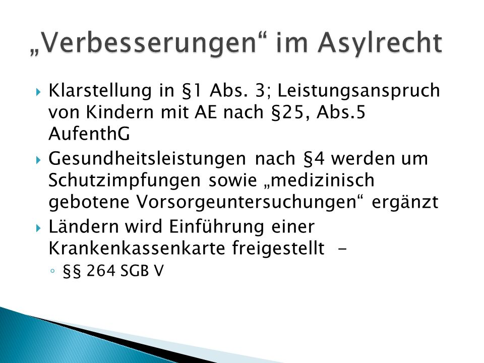  Klarstellung in §1 Abs.