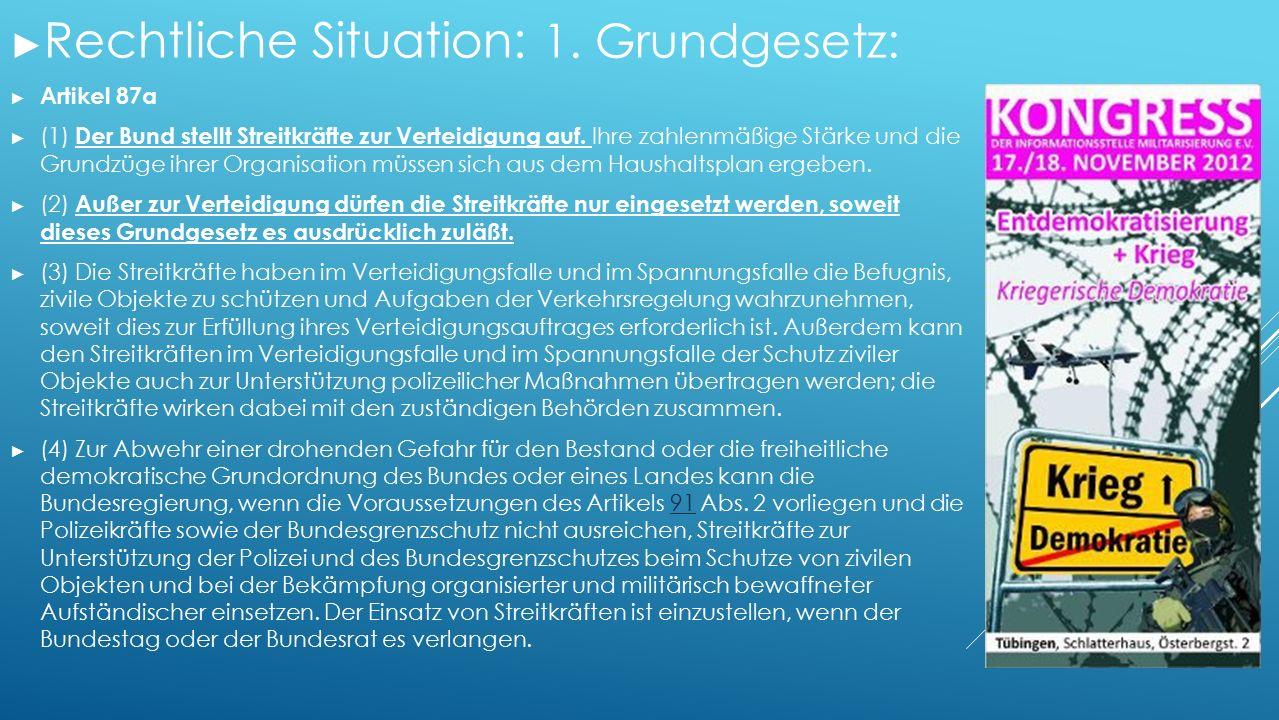 ► Rechtliche Situation: 1.