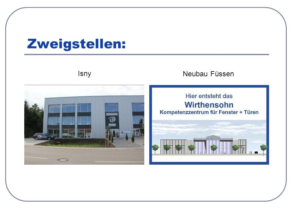 Zweigstellen: Isny Neubau Füssen