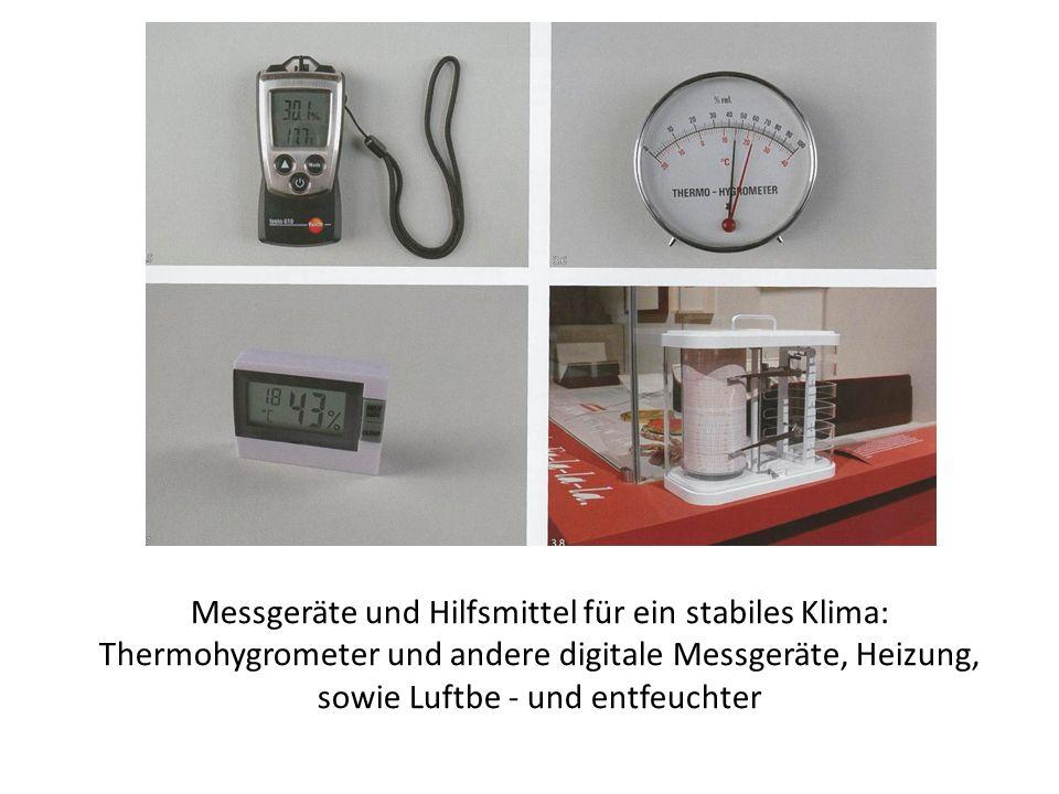 Messgeräte und Hilfsmittel für ein stabiles Klima: Thermohygrometer und andere digitale Messgeräte, Heizung, sowie Luftbe - und entfeuchter