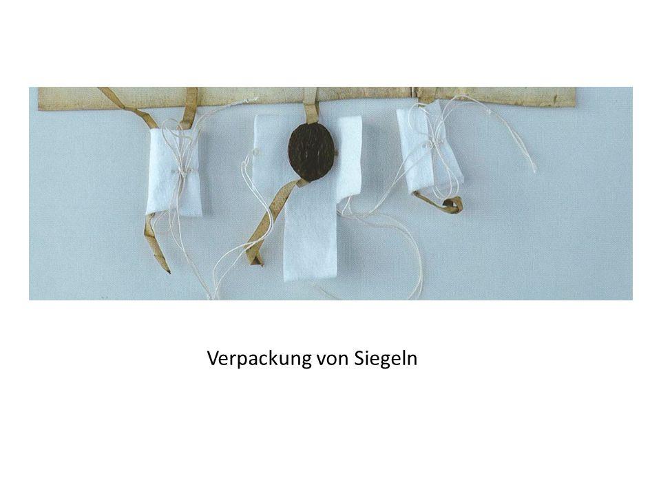 Verpackung von Siegeln