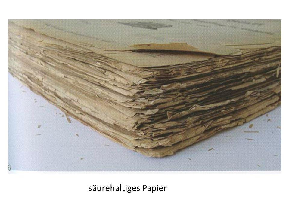 säurehaltiges Papier