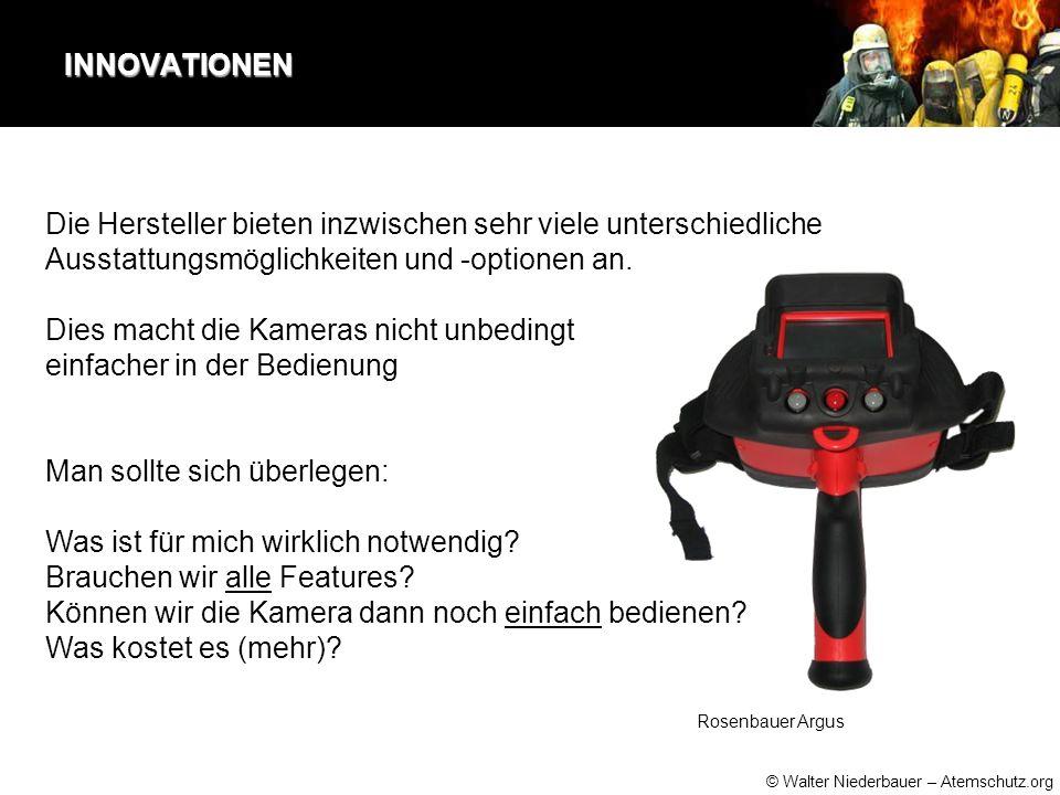 © Walter Niederbauer – Atemschutz.org INNOVATIONEN Die Hersteller bieten inzwischen sehr viele unterschiedliche Ausstattungsmöglichkeiten und -optionen an.