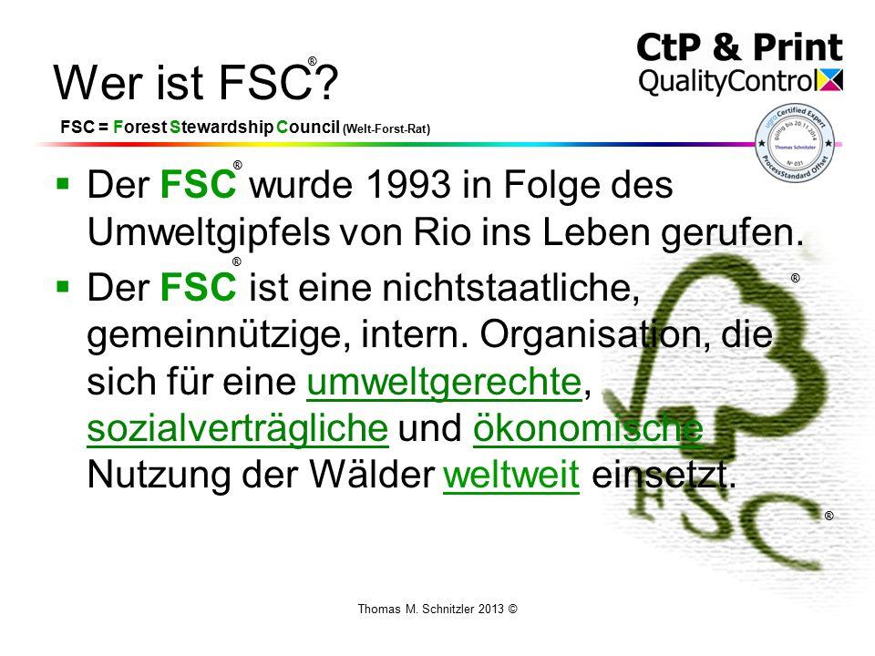 Thomas M. Schnitzler 2013 © Wer ist FSC.