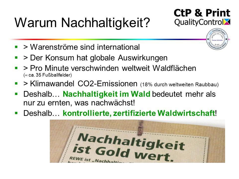 Warum Nachhaltigkeit.