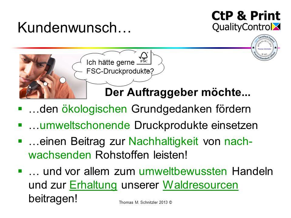 Thomas M. Schnitzler 2013 © Kundenwunsch… Der Auftraggeber möchte...