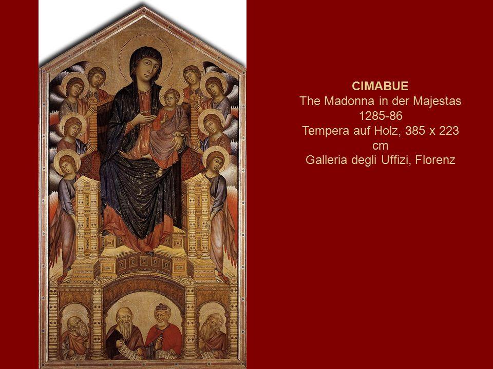 CIMABUE The Madonna in der Majestas 1285-86 Tempera auf Holz, 385 x 223 cm Galleria degli Uffizi, Florenz